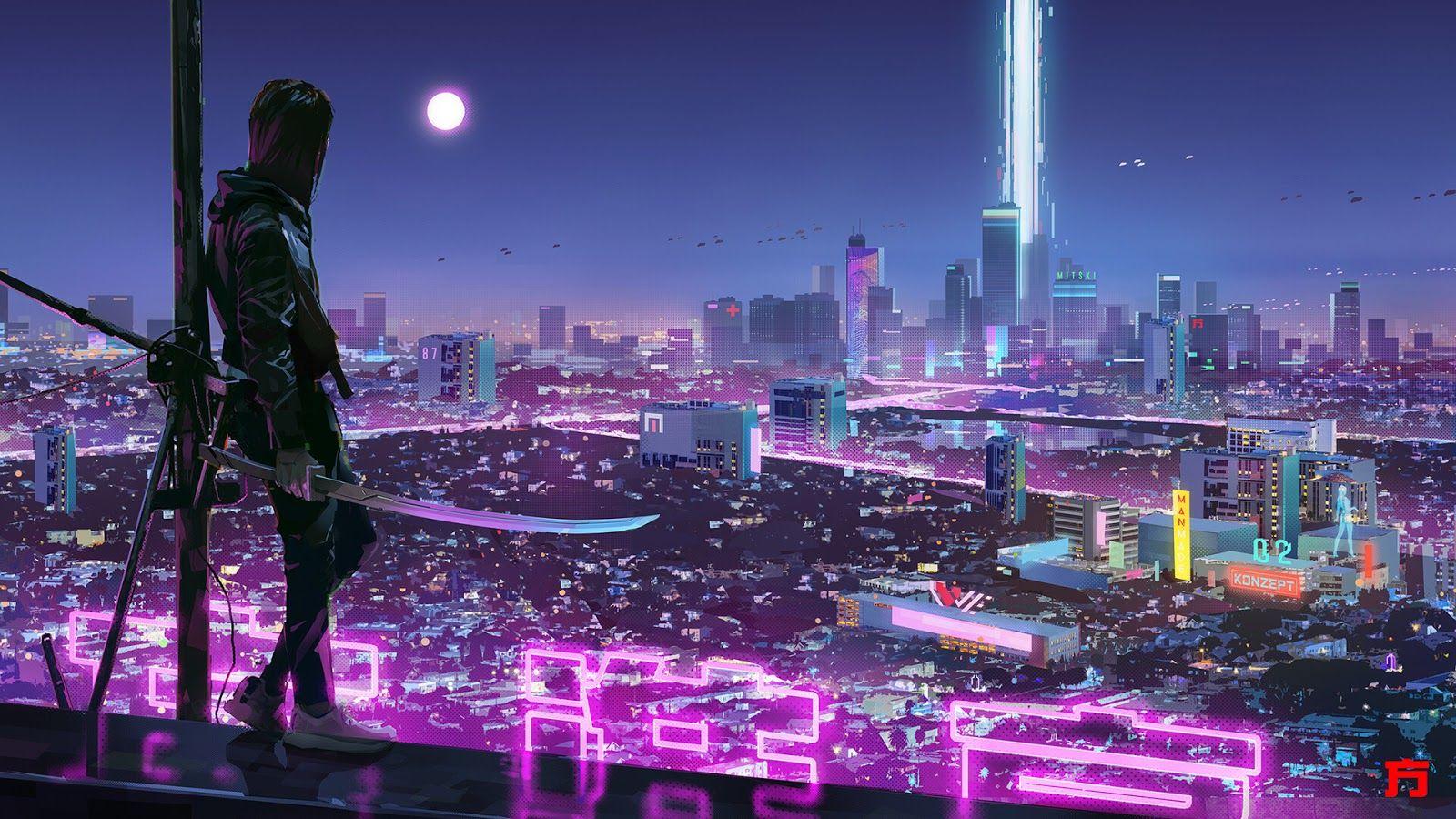 Desktop wallpaper 1080p cyberpunk in 2020 cyberpunk
