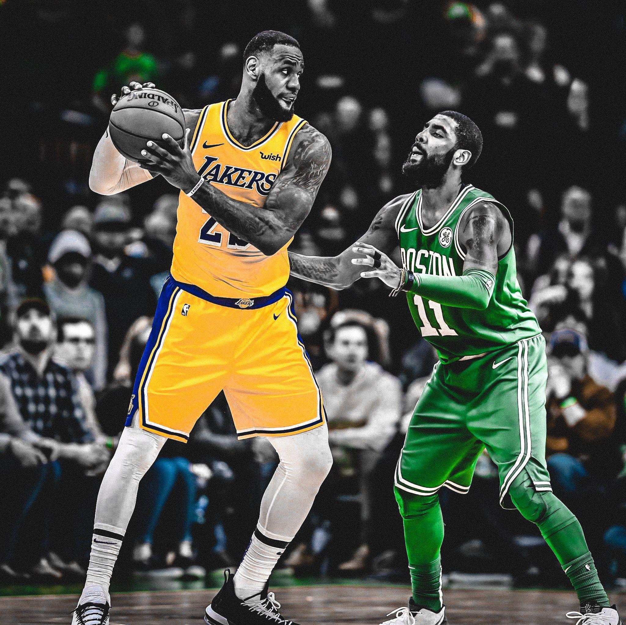 bc6b78973cb LeBron James vs Kyrie Irving. Boston Celtics vs LA Lakers