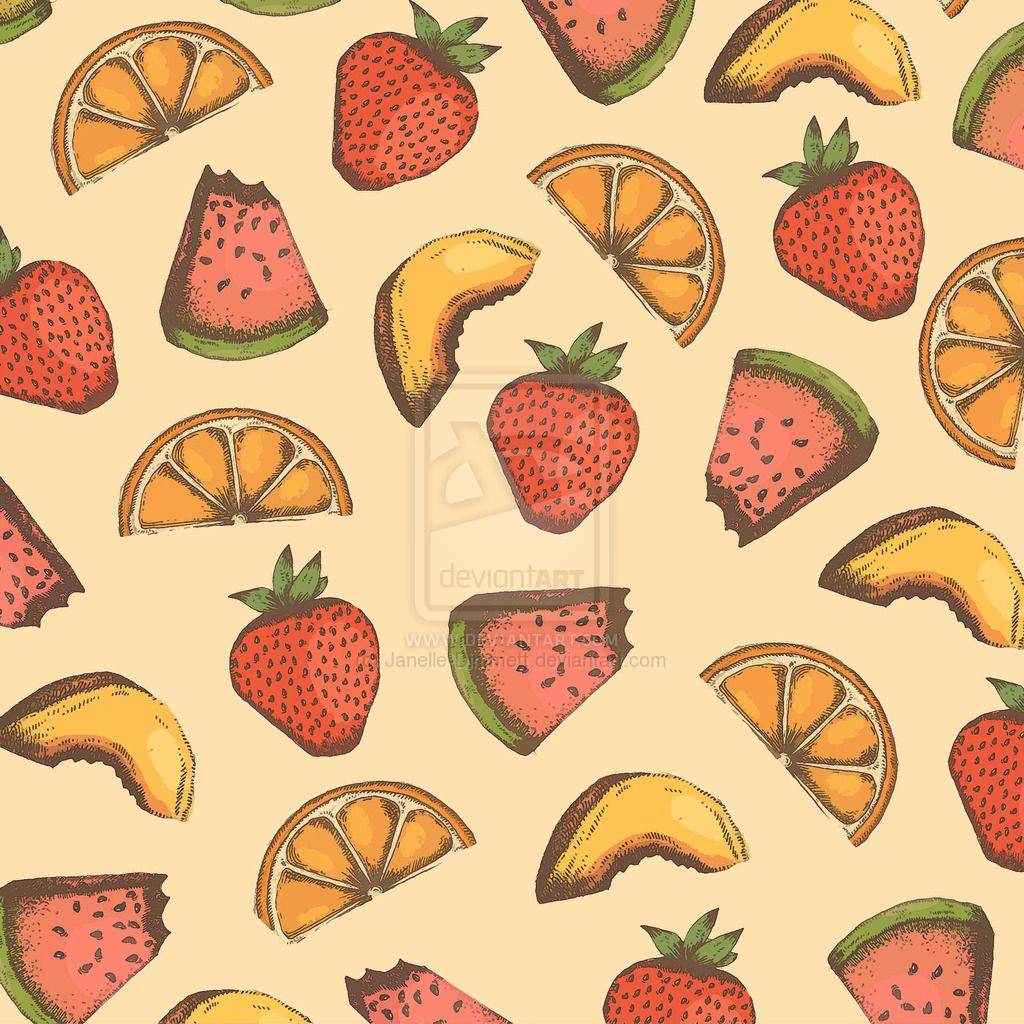 Fruit Variety Pattern by Janelle-Dimmett.deviantart.com on @deviantART