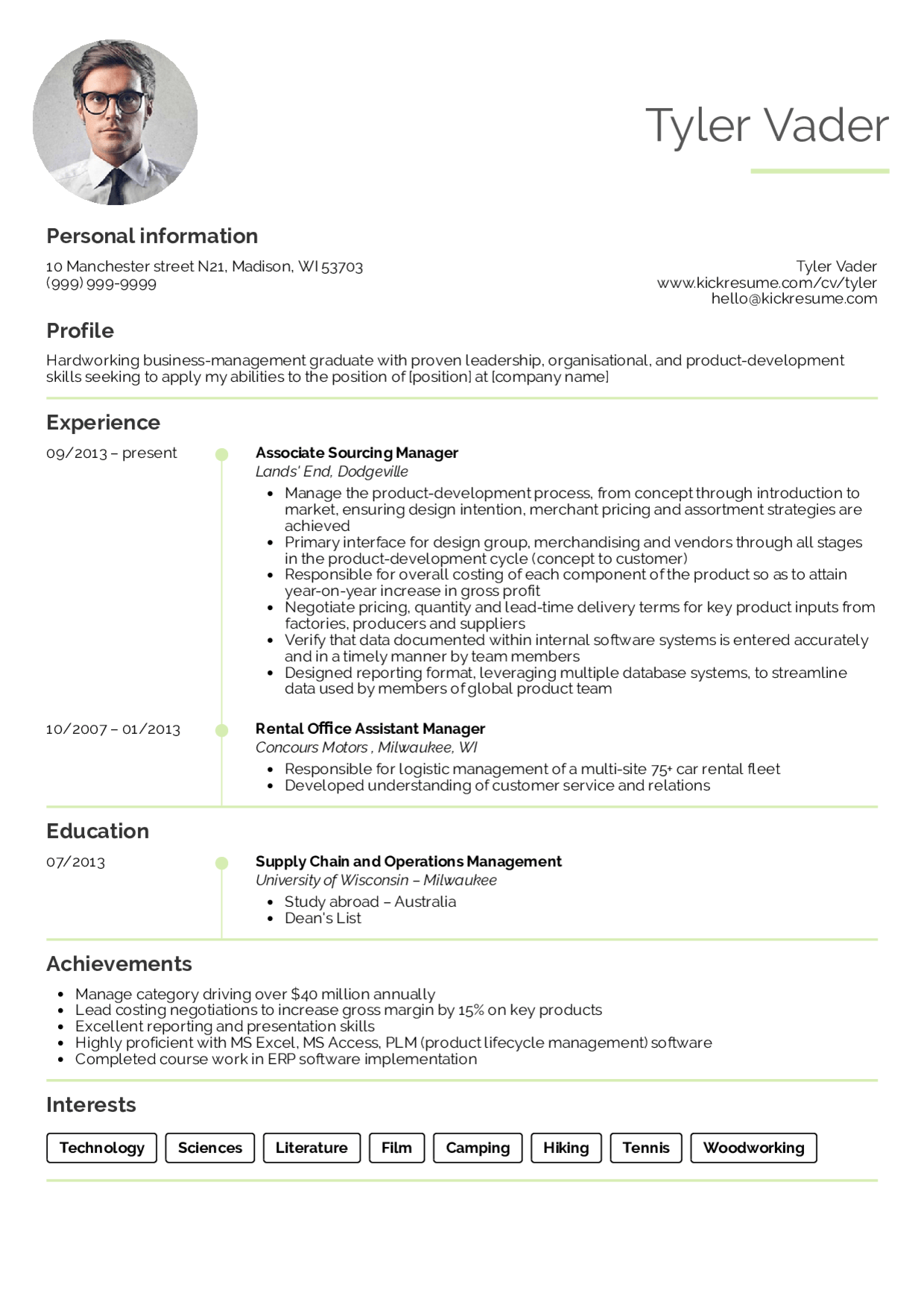 Resume Examples Management Resume examples, Business