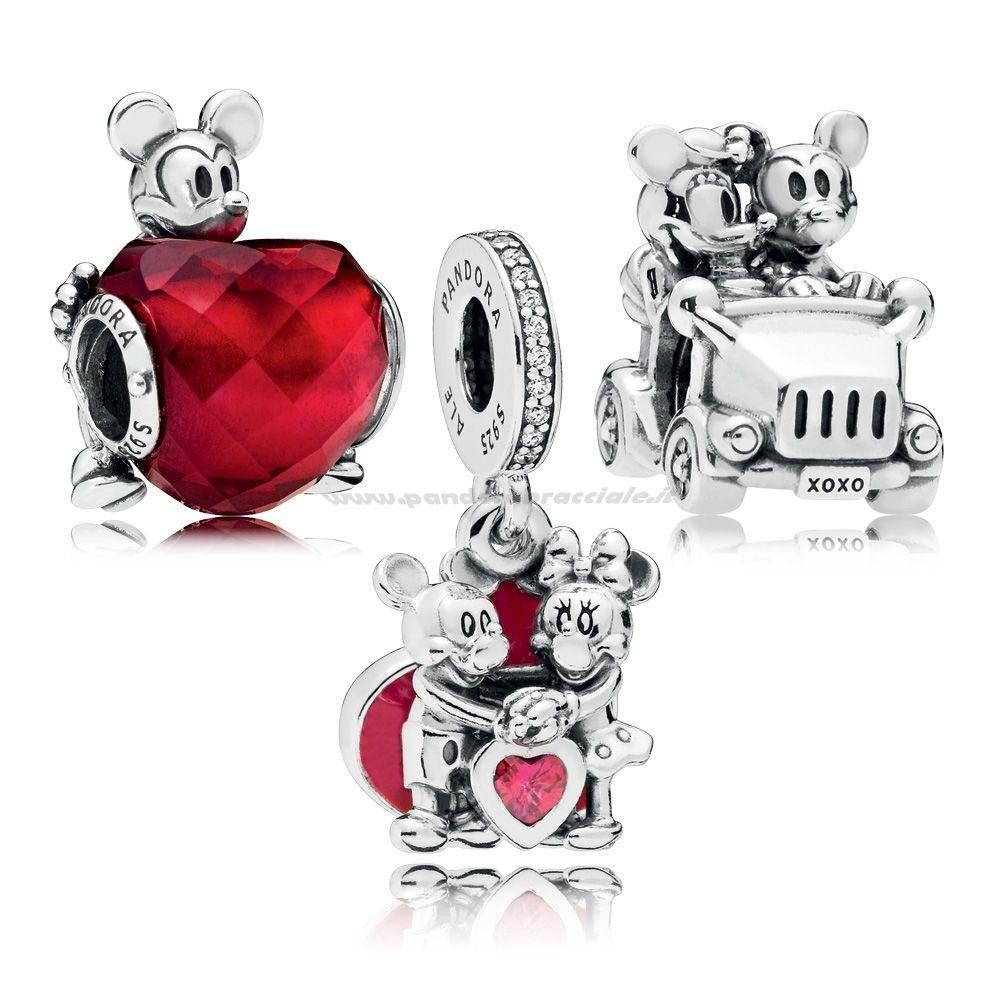 Pandora Italia Disney Mickey Pacchetto Charm Amore E Minnie Net ...