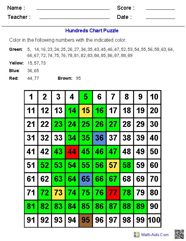 Hundreds Chart  Christmas Tree  MathAidsCom  Pinterest