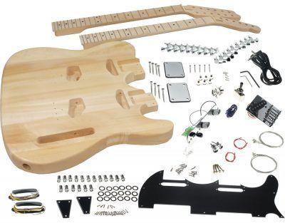 Double Neck Guitar Kits Solo Music Gear Guitar Kits Guitar Solar Energy Diy