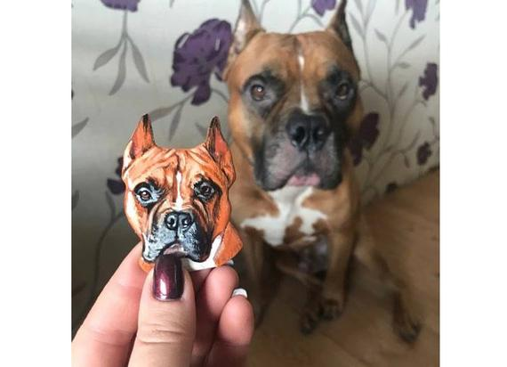 Custom Pet Portrait Magnet Souvenir For Dog Or Cat Owner