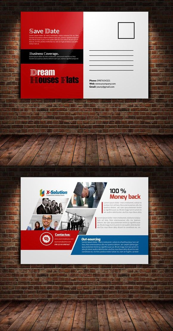 Business Postcard Template | Business postcards, Postcard template ...