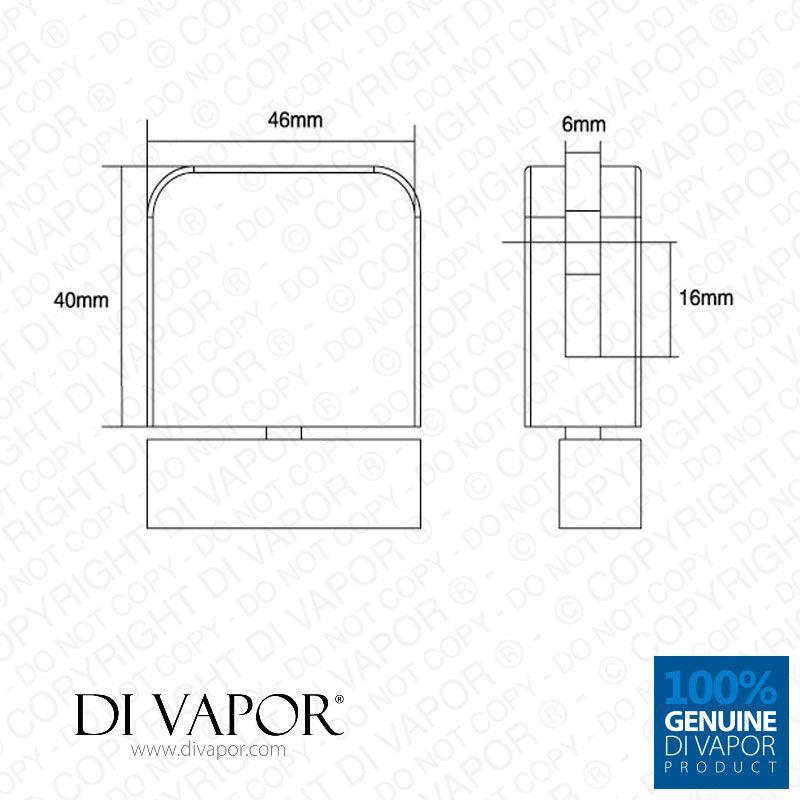 Plastic Glass Shower Door Pivot Hinge For 6mm