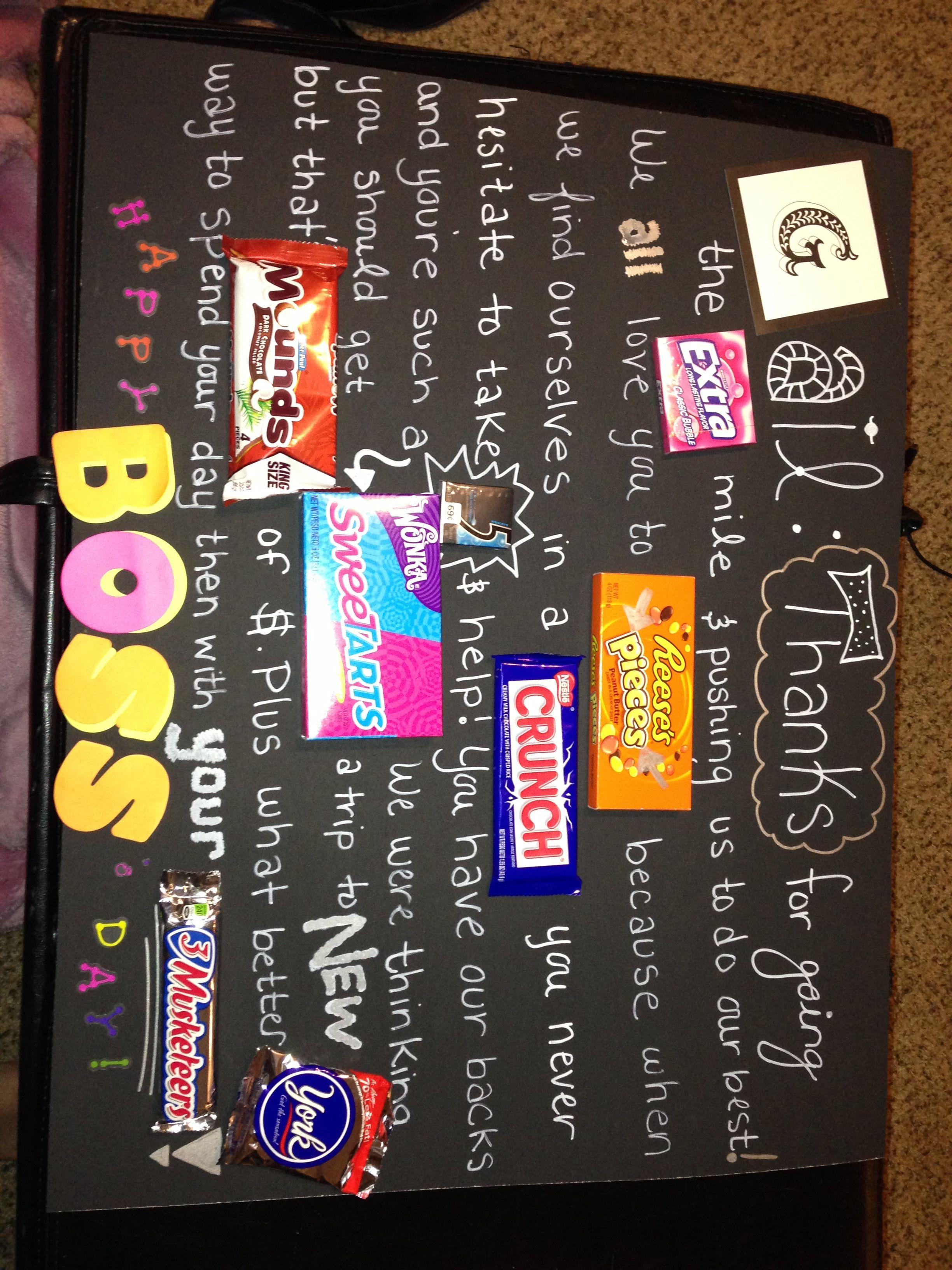 My gift for Boss's Day!!!   Gift ideas   Pinterest