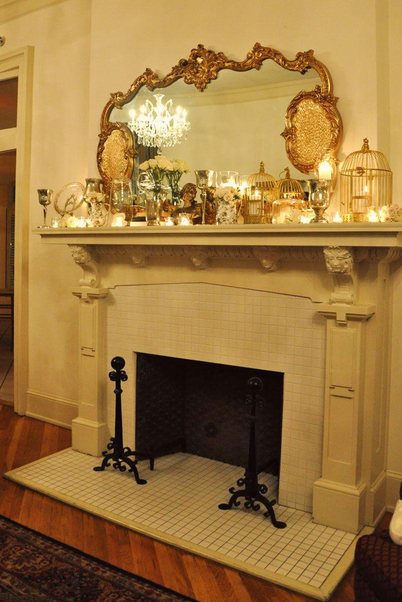 cocktail hour decor fireplace mantel decormantle
