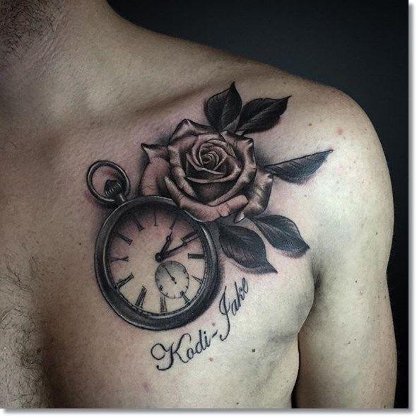 75 Brilliant Pocket Watch Tattoo Designs Ever Made Watch Tattoos Watch Tattoo Design Rose Tattoos For Men