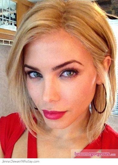 Pleasant Jenna Dewan Blonde Bob Hairstyles And Blonde Bobs On Pinterest Short Hairstyles Gunalazisus