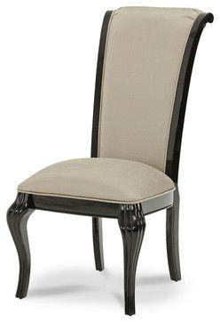 Best Hollywood Swank Starry Night Side Chair Black Onyx Modern 400 x 300