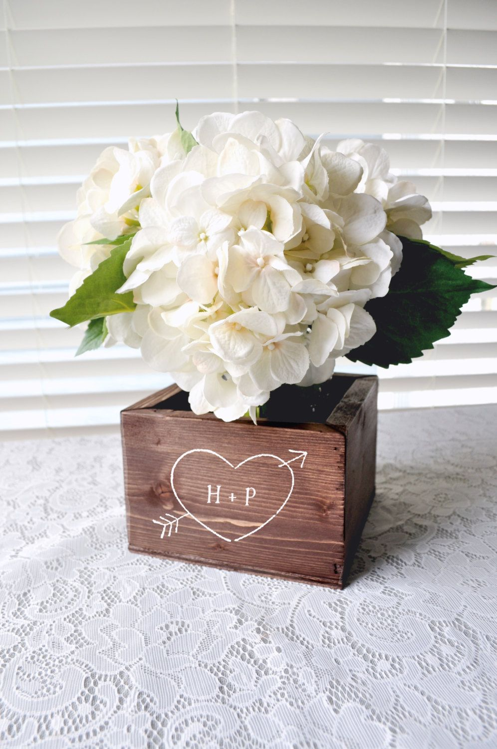 Personalized PINE Rustic Woodland Wooden Flower Box Planter Wedding ...