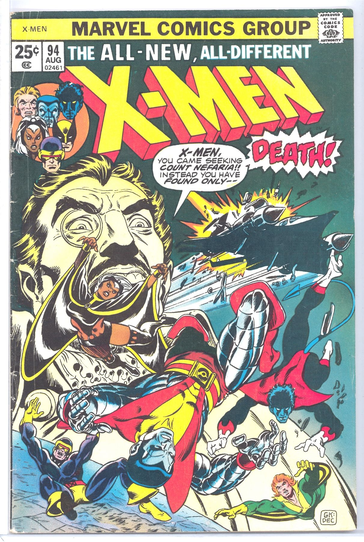 X Men 94 After The New Team Was Introduced In Giant Size X Men 1 This Was When The Book Relaunched Wit Rare Comic Books Comic Covers Classic Comic Books