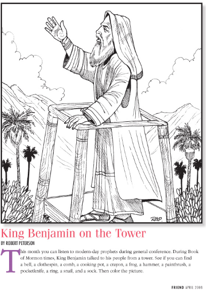 King Benjamin On The Tower Hidden Picture