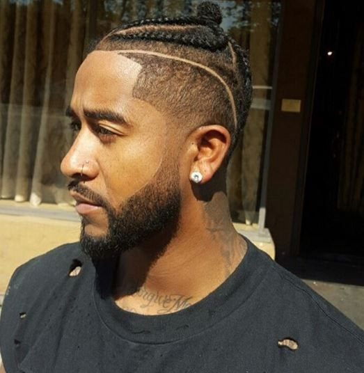 Omarion shaved head