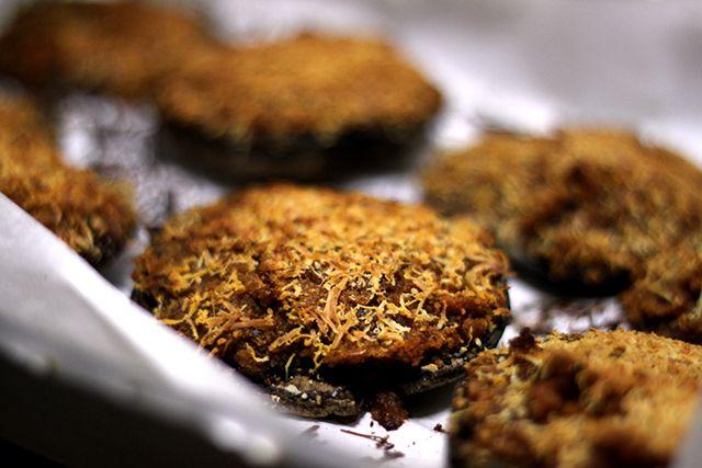 Instapost: Receita de Cogumelos Portobello Recheados e Gratinados