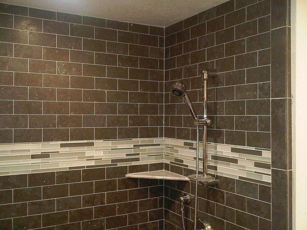 Bathroom Remodel Glass Tile the tiles are too dark but i like the subway style and the glass
