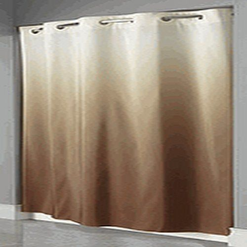 Hookless Graduate Ombre HOTEL Beige/Brown Color Shower Curtain Hookless