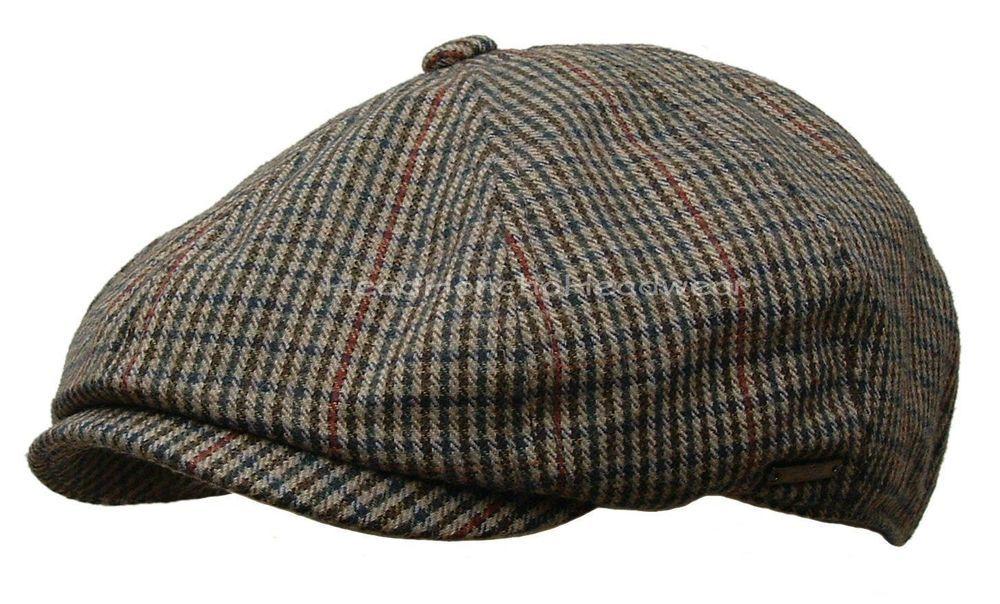 419f6f323a Details about Men Wool Herringbone Tweed Gatsby Newsboy Cap Ivy Hat ...