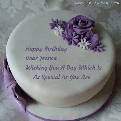 Terrific Indigo Rose Happy Birthday Cake For Jessica 500500 19Th Funny Birthday Cards Online Inifodamsfinfo