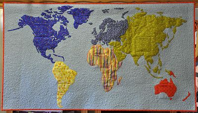 World Map Quilt Pattern.World Map Quilt By Tracey Pereira Map Quilts Pinterest Map