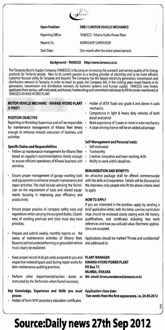 27 Mechanic Job Description Resume In 2020 Nurse Job
