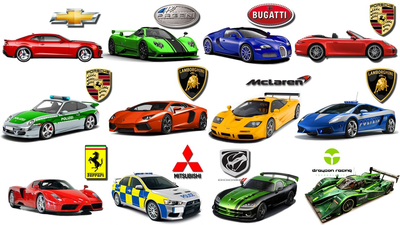 Sports Car Brands >> Learn Brand Of Cars For Kids Sports