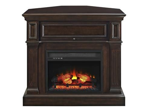 Whalen 42 Leland Electric Fireplace Console In Laminate Dark Brown At Menards Whalen R Fireplace Console Electric Stove Fireplace Corner Electric Fireplace