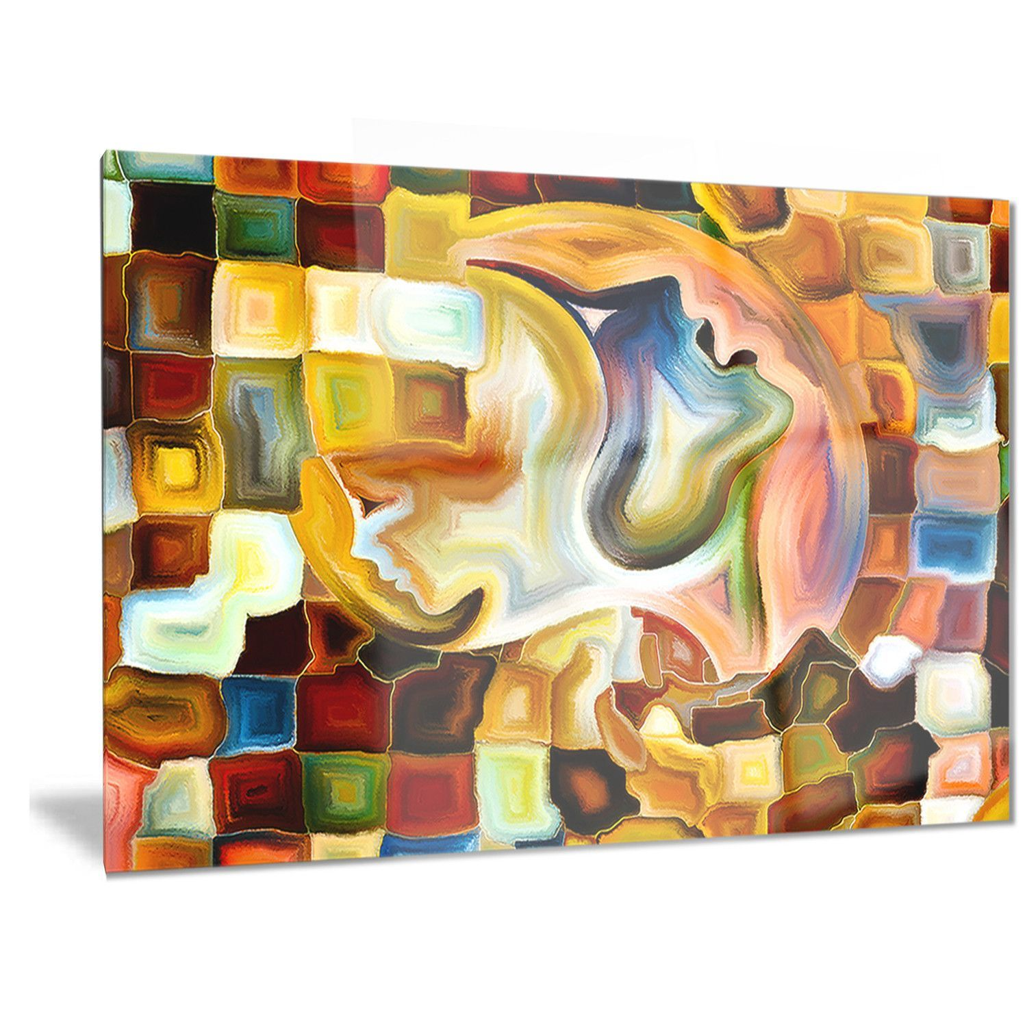 Designart \'Way of Inner Paint\' Abstract Metal Wall Art | Products ...