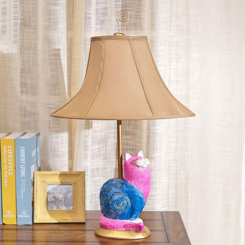 Luxury retro pink cat resin table lamp luxury bedroom bedside lamp luxury retro pink cat resin table lamp luxury bedroom bedside lamp sculpture resin decoration lamp abajur aloadofball Gallery