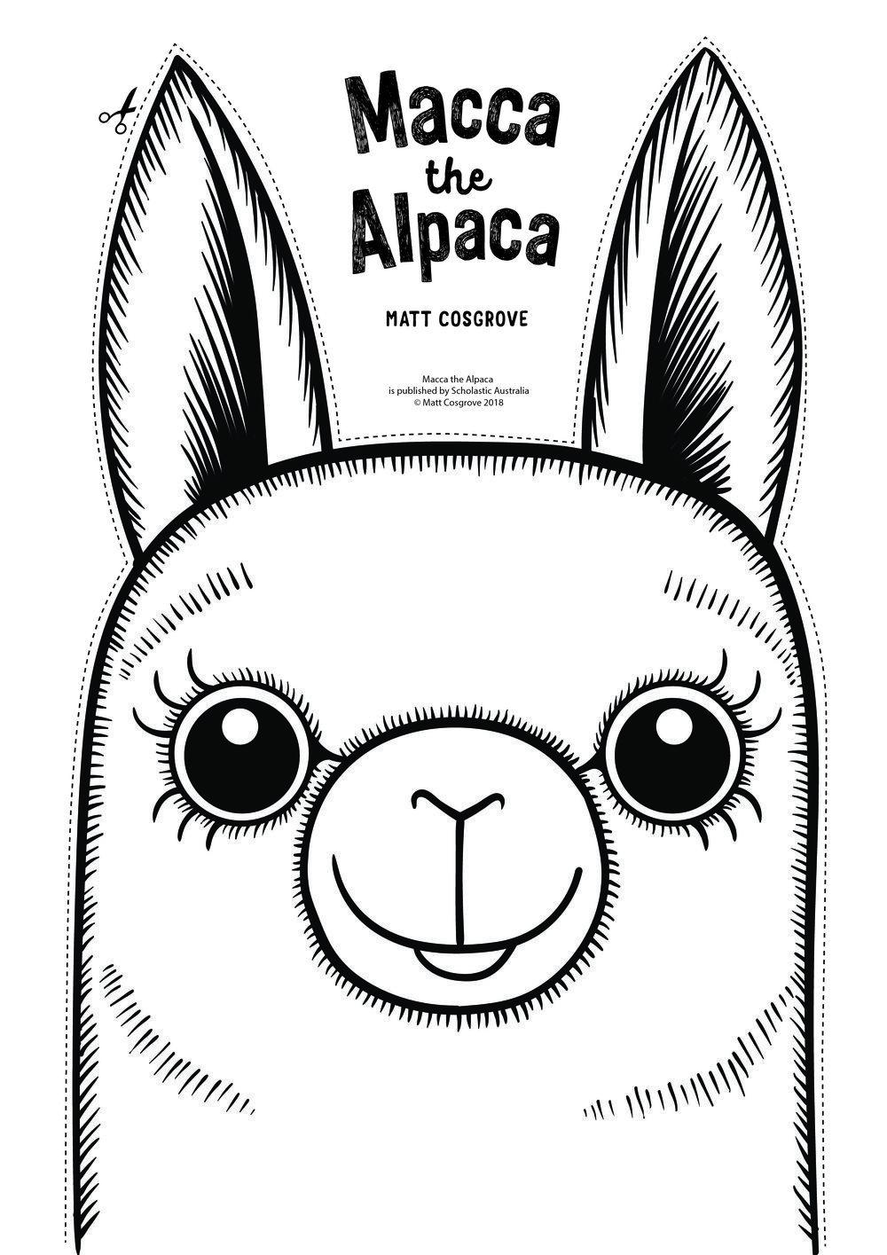 MaccaTheAlpacaMaskMattCosgrove.jpg | Felt animal patterns ...
