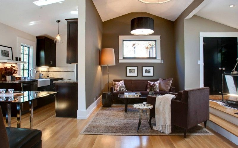 Schon Wandfarbe Braun Wohnzimmer Design