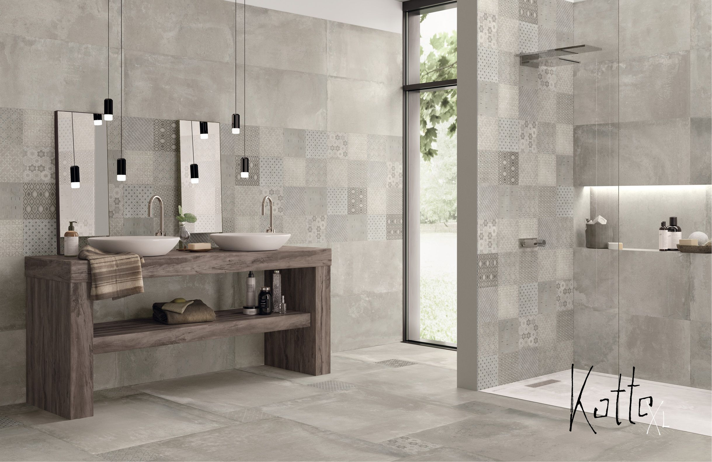 Badezimmer Betonoptik ~ Ein badezimmer mit der tollen serie kotto xl von emil. verschiedene