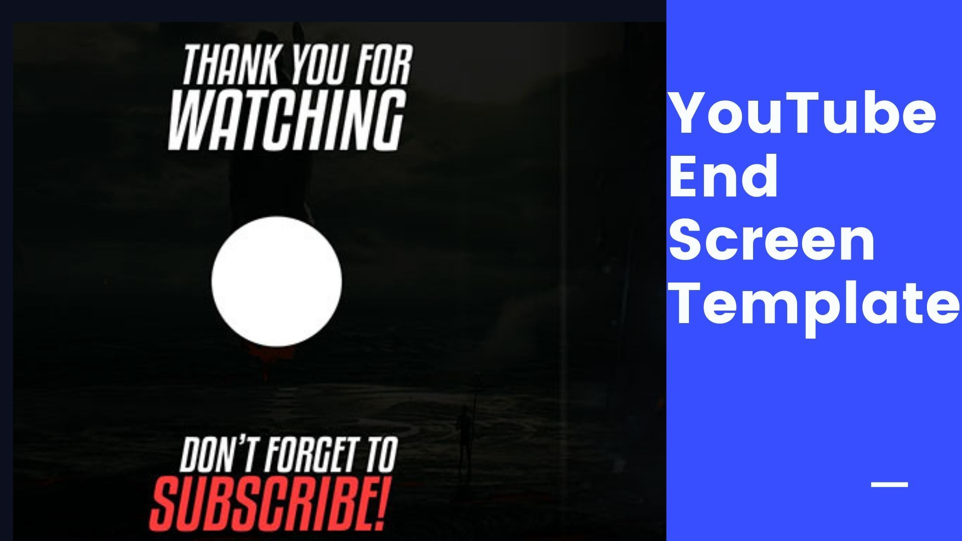 Youtube End Screen Template Youtube Templates Cool Websites
