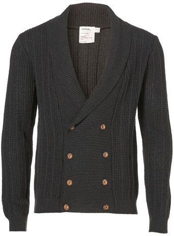 ead1c5cd2fc textured double-breasted cardigan, wood buttons, charcoal | My Style ...