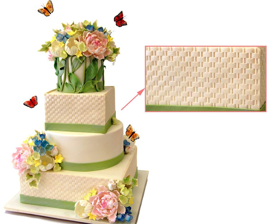 Visual Glossary of Cake Terms » Pink Cake Box | Wedding, Flowers and on