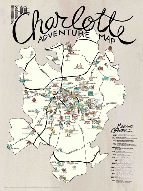 Pin by MaryElizabeth Phelps on OH THE PLACES I'LL GO in 2019 ... Charlotte Nc City Map on