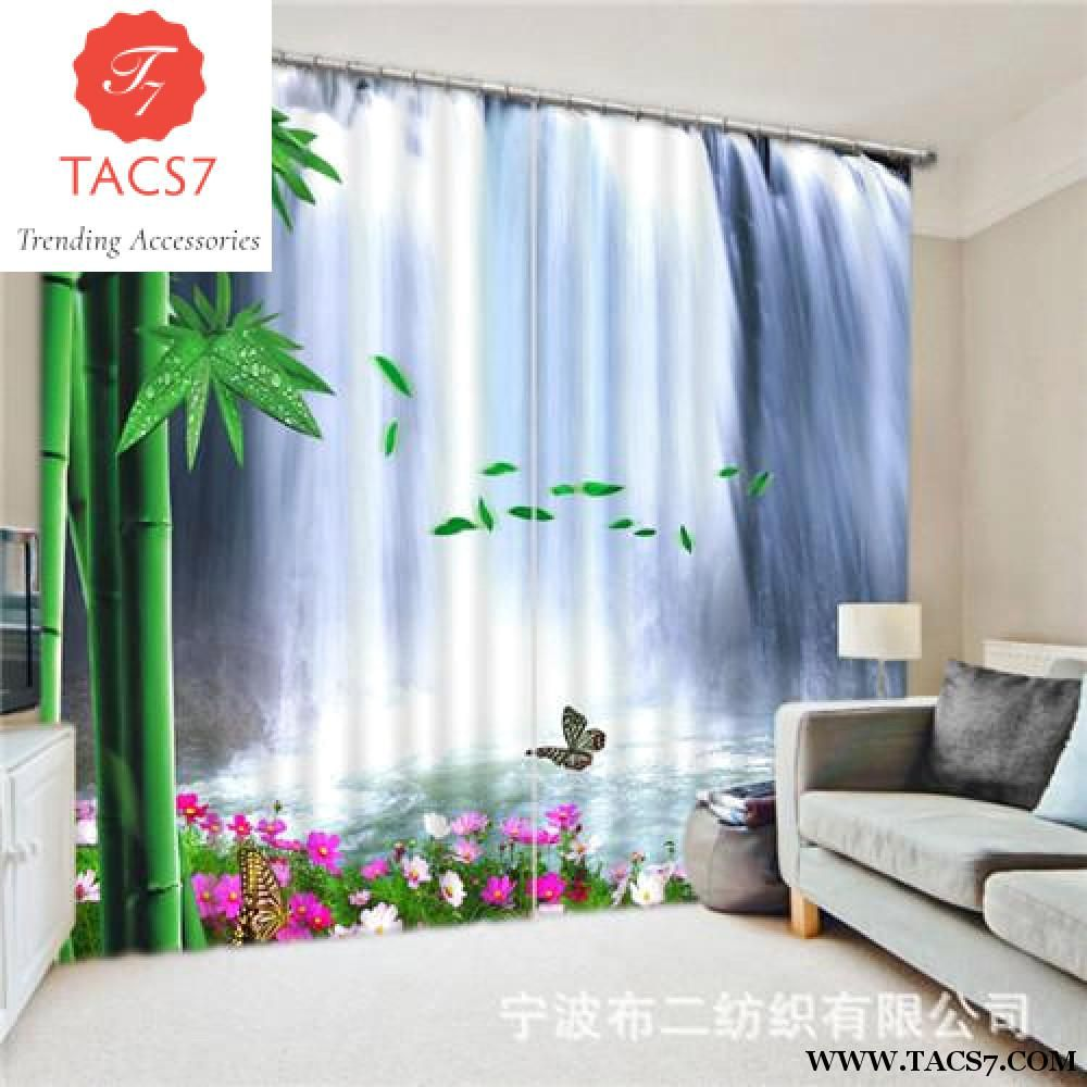 Waterfall Landscape 3D Photo Printing Blackout Window Curtains For Living  Room Bedding Room Hotel/Office Drapes Cortinas Para | 3d Photo, Window  Curtains ...