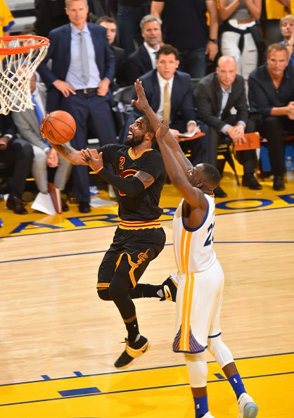 73821b2c430b Kyrie Irving of the Cleveland Cavaliers goes up for the layup against the Golden  State Warriors during the 2016 NBA Finals Game Seven on June 19 2016.