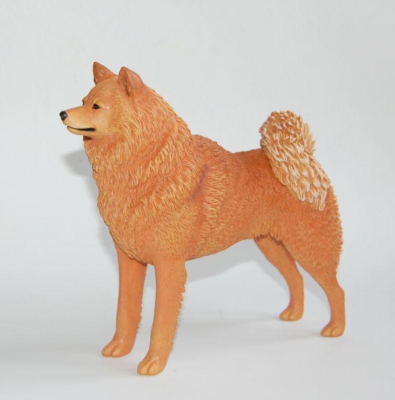 Ooak Custom Made Finnish Spitz Suomenpystykorva Figurine Rare