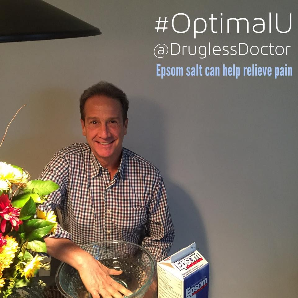 Hi Everyone! Did you know that pain in both hands from carpal tunnel can be caused by decayed discs in your neck, misaligned vertebrae, and poor posture. Thumb pain may be caused by joint inflammation and is helped with 150 mg of vitamin B6 daily. My #OptimalU for today on page 398 also suggests to soak your hand in warm #Epsom salt, which is a source of minerals. #health #nutrition
