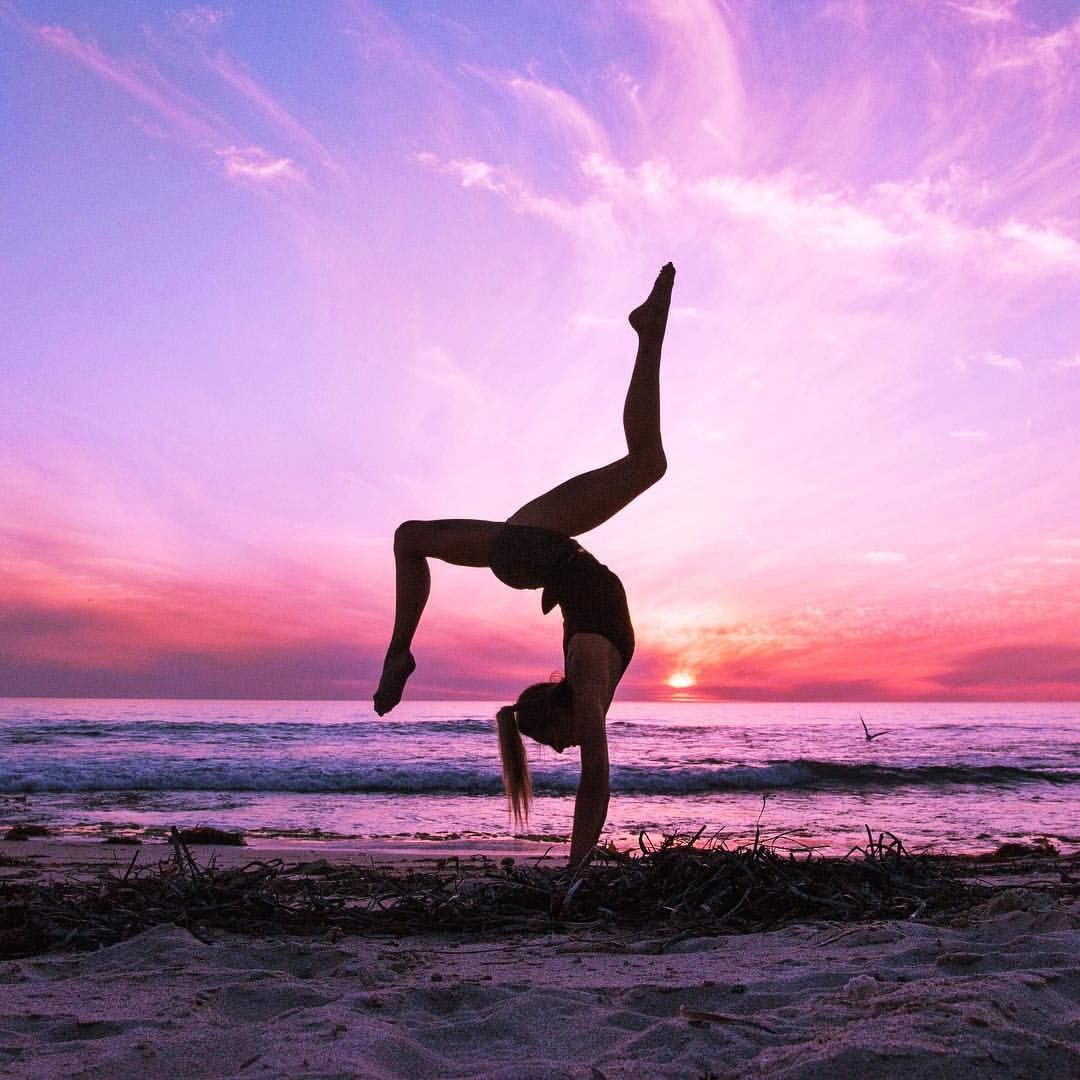 Yoga Pose With A Beautiful Background Scene