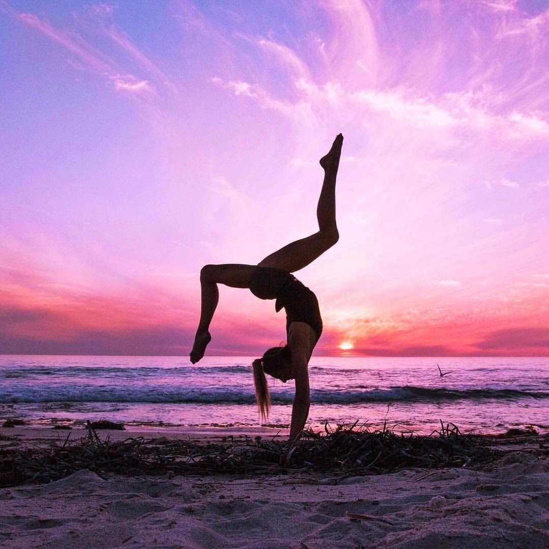 Beautiful Nature Girl Wallpaper: Yoga Pose With A Beautiful Background Scene.