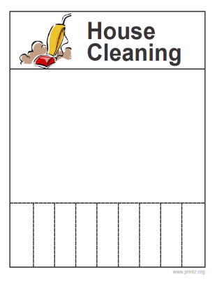 Free Printable House Cleaning Flyers  Need A House Cleaner
