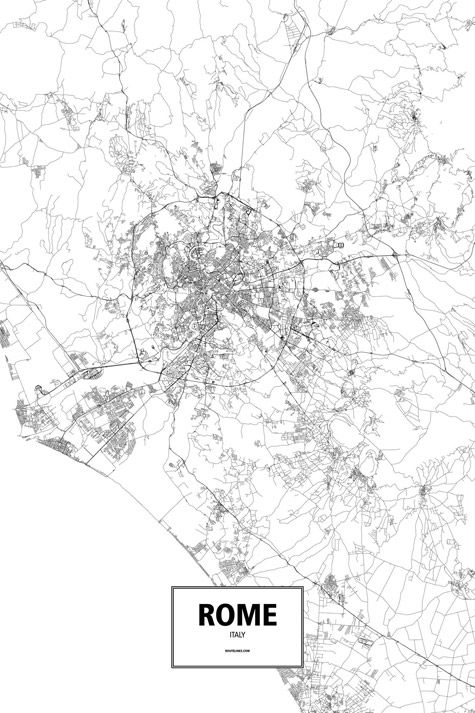 Map Of Italy Black And White.Rome Italy In 2019 Maps Rome Map Italy Map City Maps
