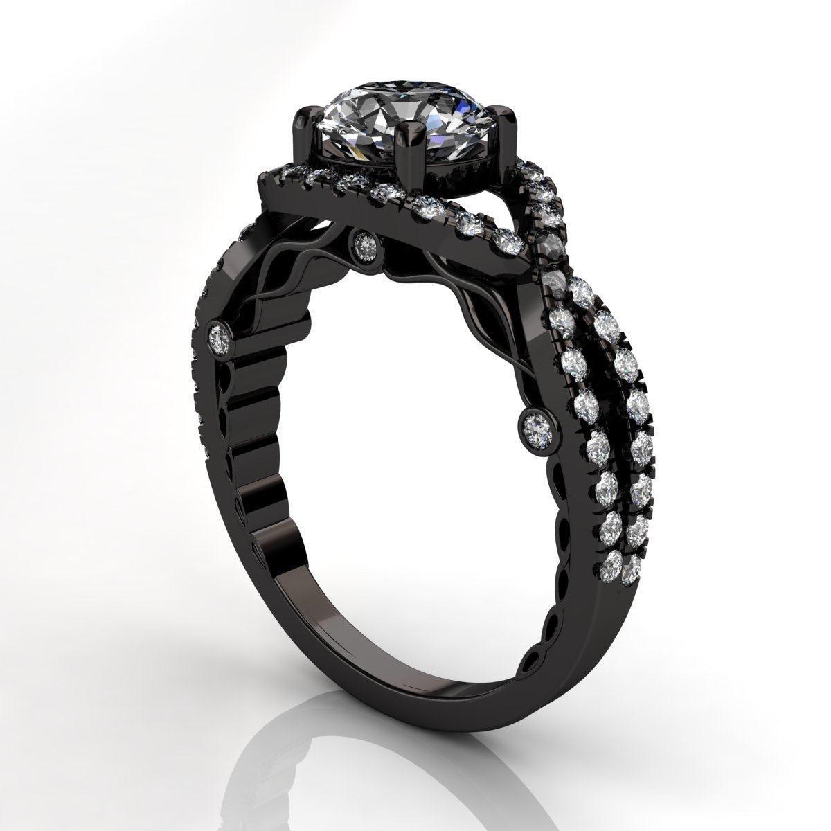 Black gold engagement rings for women 6 black gold