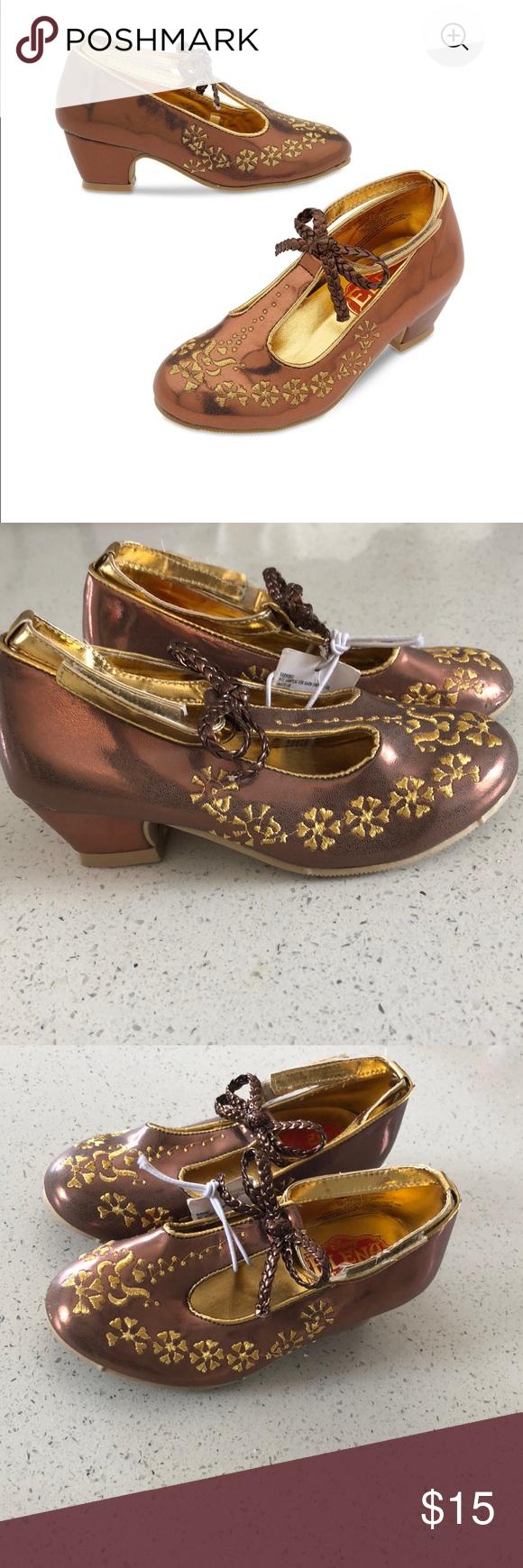 Gold Elena of Avalor costume shoes