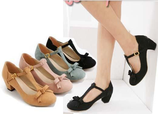 cec2dca1646c67 Classy Retro Style Women Shoes Elegant Strappy Medium Chunky Heel Dress  Pumps