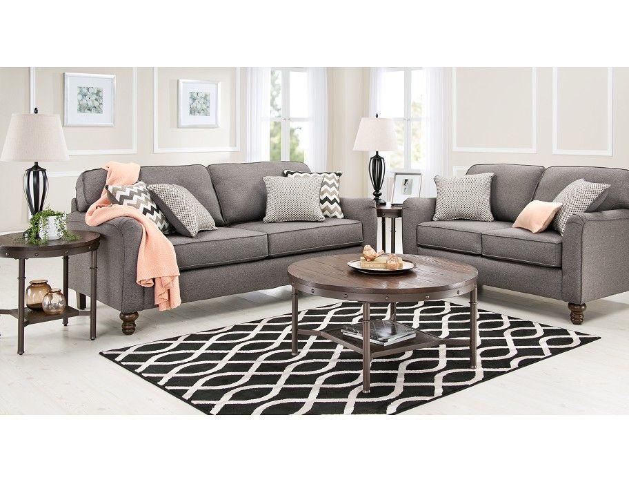 Slumberland coleton collection 5pc ash room package - Slumberland living room furniture ...