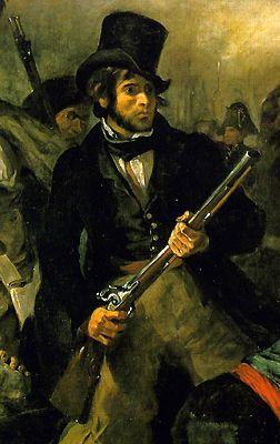 Liberty Leading The People Eugene Delacroix 1830 Detail Romanticismo Pinturas Pintor